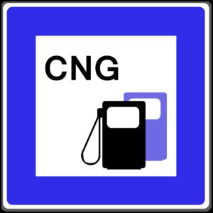 """An Tankstellen wird Erdgas mit """"CNG"""" ausgezeichnet."""